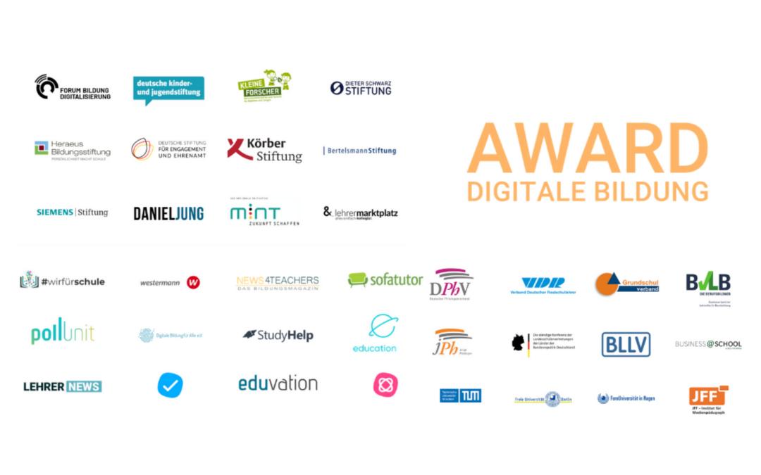 Award Digitale Bildung erhält Unterstützung von vielen namhaften Partnern